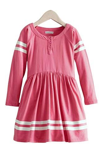 Chasing Fireflies Girls Football Jersey Dress Hot Pink ()