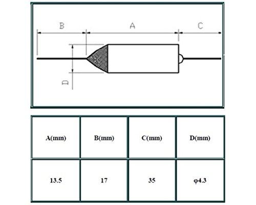113 ° C 113 grados TF Corte SF109E 10A AC 250V Nuevo Fusible Térmico Microtemp 10 un