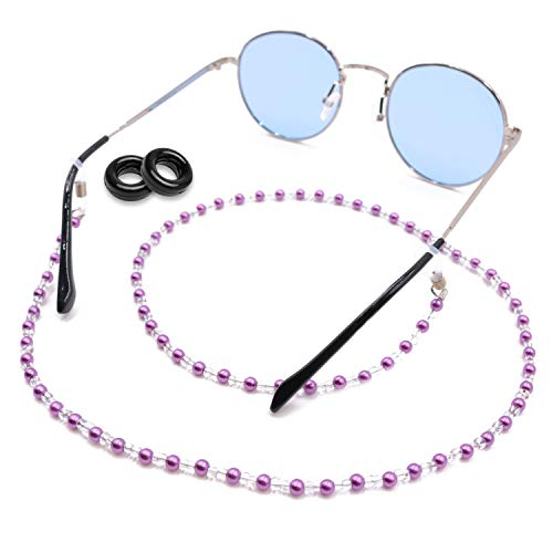 Kalevel Eyeglass Chain Holder Glasses Strap Beaded Sunglass Chains for Women