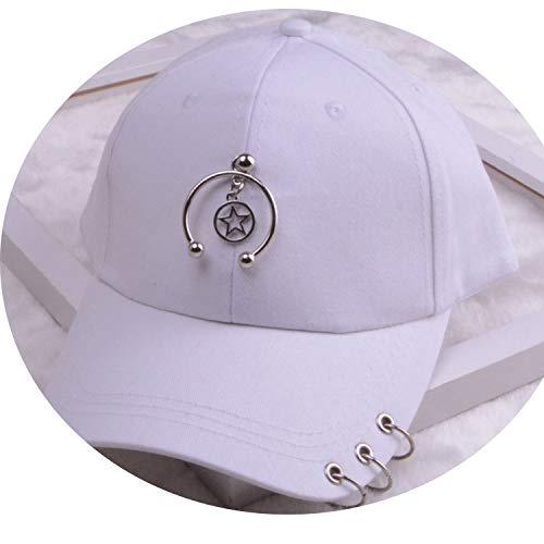 女性 リング野球帽 男性女性 白黒 野球の帽子,リトルスターホワイト
