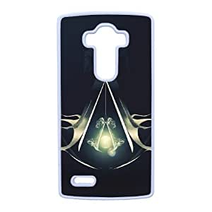 Plastic Durable Cover LG G4 Cell Phone Case White Blpew Assassin's Creed Durable Phone Case