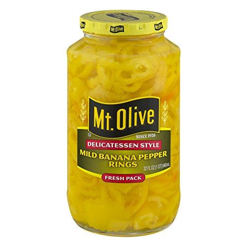 (Mt. Olive Delicatessen Style Mild Banana Pepper Rings, 32.0 FL OZ)
