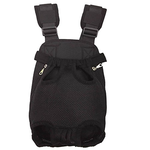 VIDASOFT Dog Carriers for Small Dogs - Legs Out Front Pet Cat Dog Carrier Backpack for Hiking, Black, Small Size