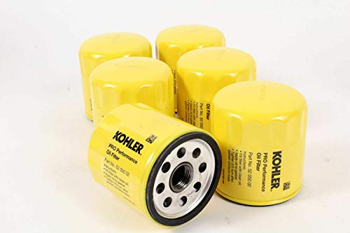 Kohler 52 050 02-S Pack of 6 Pro Performance Oil Filters