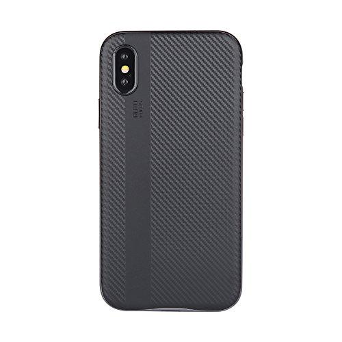Coque Bee Xiu7 pour iPhone X, design léger et ultrafin-Noir