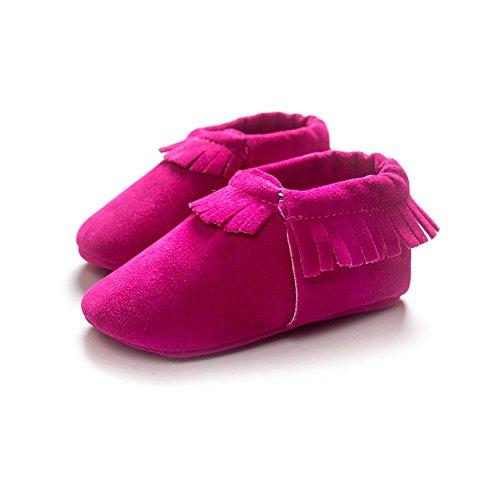 Pour Chaussures En Rouge 0 Pas Rose 18mois 12 Premiers Filles 12 Souple Bobora 6 Cuir Garcons Bebe 6 Chaussons wEqwgdv