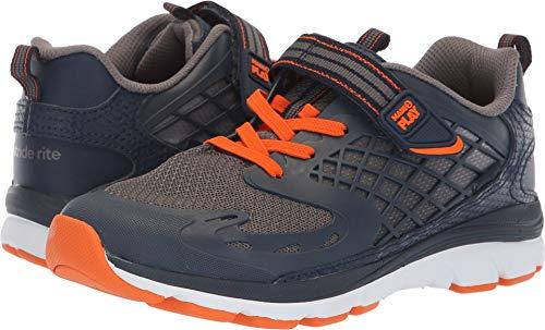 Stride Rite Mesh Sneakers - Stride Rite Boys' M2P Breccen Sneaker, Navy/Orange, 13.5 W US Little Kid