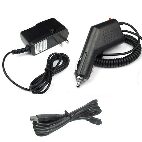 Garmin Gps Nuvi 255W Accessory Bundle   Car Charger   Home Travel Ac Charger   Usb Data Cable