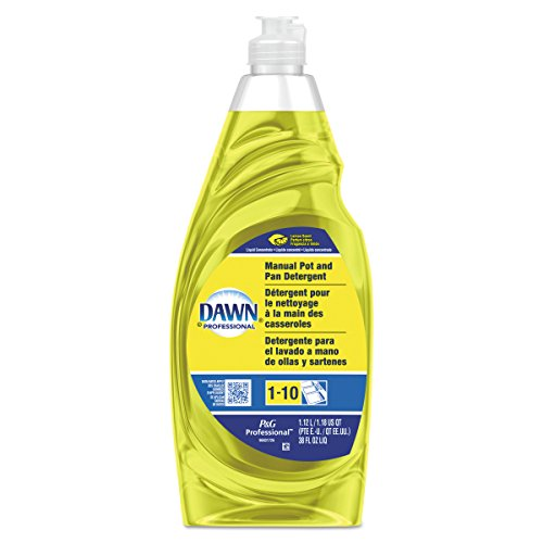 Dawn Professional Bulk Pot, Pan, and Dish Liquid Dishwashing Soap Detergent Degreaser for Commercial Restaurant, Lemon Scent, 38 oz. (Case of 8)