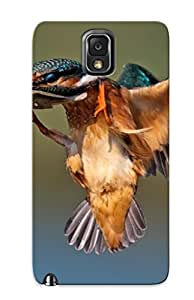 Exultantor Case Cover For Galaxy Note 3 - Retailer Packaging Animal Kingfisher Bird Protective Case