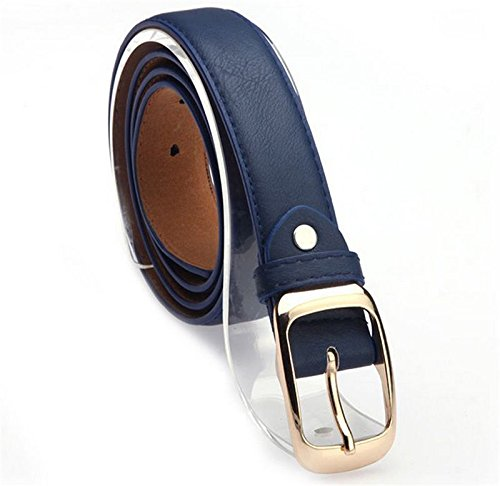 New Dickies Black Belt (Fashion Womens Paint Leather Alloy Pin Buckle Waist Strap Belts Waistband)