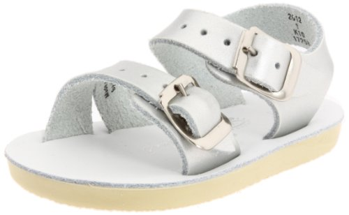 - Salt Water Sandals by Hoy Shoe Sea Wees,Silver,3 M US Infant