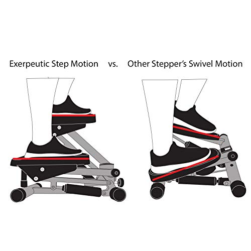 Exerpeutic EXERWORK 850 Bluetooth Smart Cloud Fitness Extended Capacity Mini Stepper with Adjustable Step Height, Free App and Workout Goal Setting by Exerpeutic (Image #1)