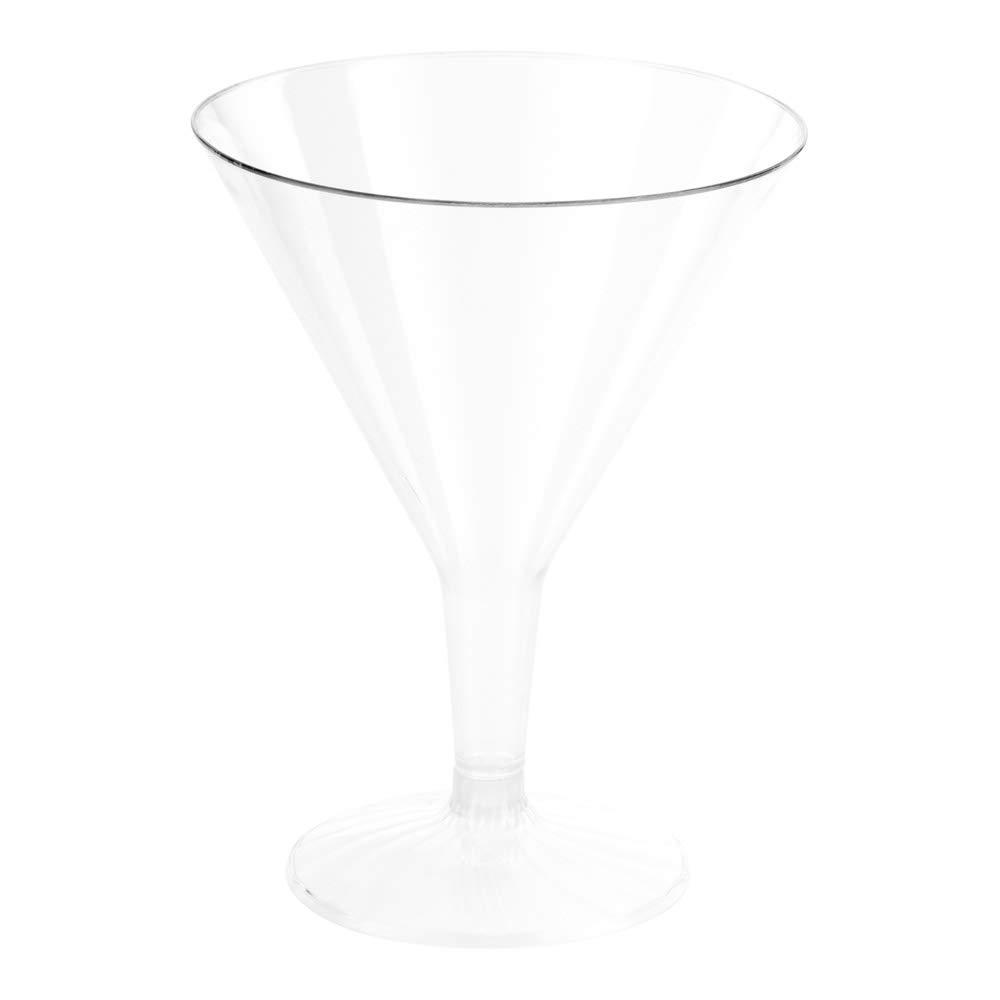 Plastic Martini Glass, Disposable Martini Glasses - Crystal Clear Premium Plastic - 7.5 oz - 100ct Box - Restaurantware by Restaurantware (Image #2)