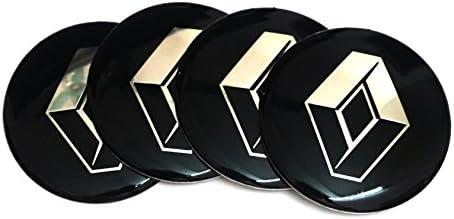 4 pegatinas de tapacubos de 65 mm para Renault