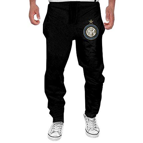 - KSLFIHAN Mens Inter Milan Soccer Club Fashion Sport Cotton Sweatpants Medium