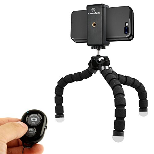 KobraTech Cell Phone Tripod Stand - Flexible Tripod for iPhone or Android - TriFlex Mini Tripod