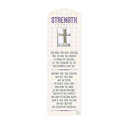 (Grass Lands USA Strength Prayer 1.5 Inch Miniature Metal Token Keepsake Cross)