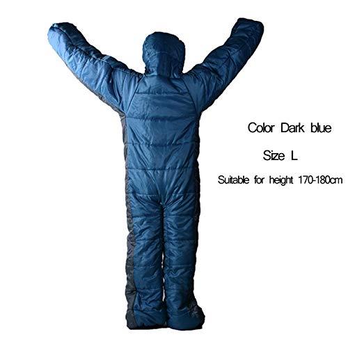 Erwachsene Outdoor humanoiden Schlafsack Outdoor Camping Indoor Erwachsene Schlafsäcke Super Licht Winter und warme Jahreszeit Baumwolltasche