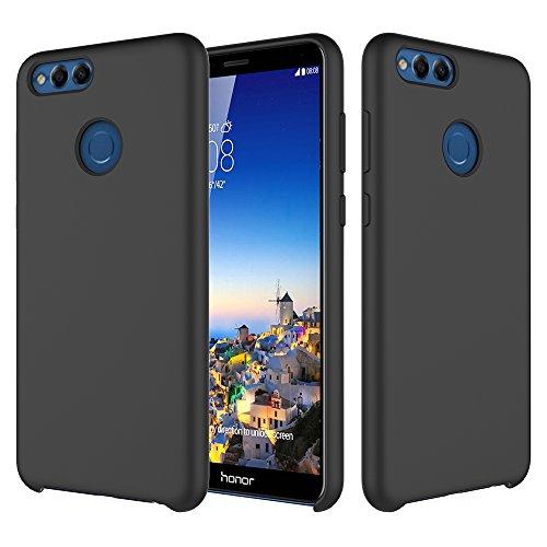 Coque Huawei Honor 7X,Silicone Protection Housse Bumper Anti-Choc Rsistant Protecteur Case Ultra Lger Brillant TPU tui Rose Dessin Original Transparente Matte Crystal Cover Bord 7