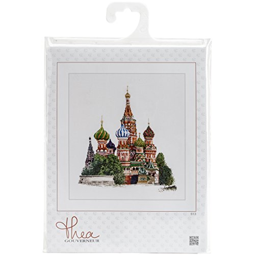 (Thea Gouverneur 18 Count St. Basil's Cathedral Moscow on Aida Counted Cross Stitch Ki, 13.5 x 14.5)