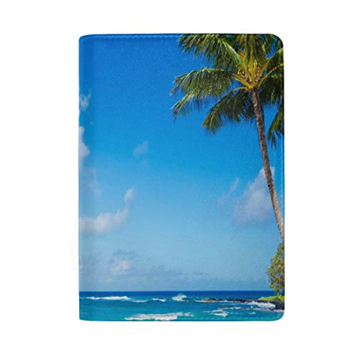 Passport Holder Hawaii Beaches For Family Fun Passport Cover Case Wallet Card Storage Organizer for Men Women Kids (Fender Passport Cover)
