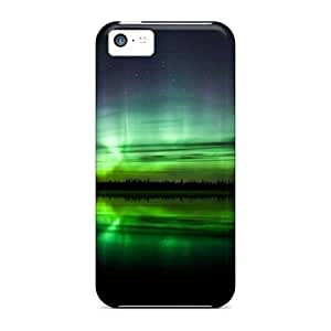 New Snap-on E-Lineage Skin Case Cover Compatible With Iphone 5c- Green Night Wallpaper