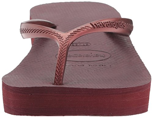 Havaianas Damen Hohe Fashion Sandale Flip Flop Grape Wine