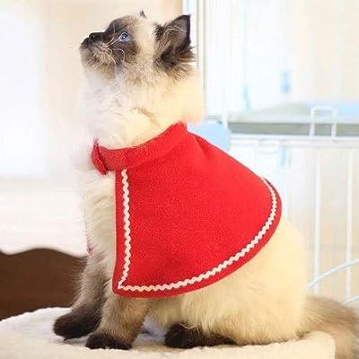 Fighrh Mascota Perro Gato Navidad Traje de Manto de Papá Noel ...