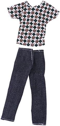 人形ドール服 32cmバービーケンドール用  トップス ジーンズズボン パンツ