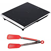 Fagor Portable 1800-Watt Induction Cooktop w/ 8-inch Nylon Flipper Tongs