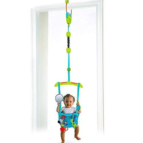 Baby Bouncer Door Jumper Walker Best Doorway with Tray Cute Swing Bumper Infant Activity for Babies Lightweight Frame Door Hanging Bouncer for Baby with Adjustable Straps Portable & eBook by NAKSHOP