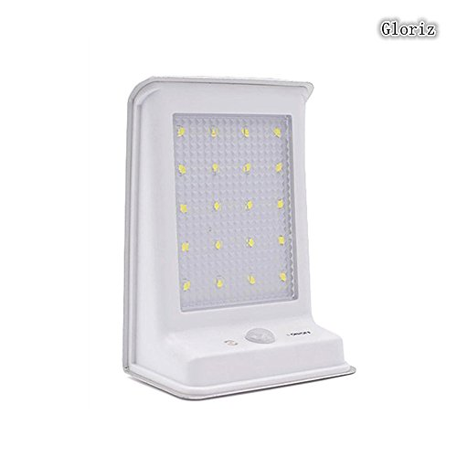 Foco Solar, Gloriz Luces Solares 20 LED lámparas solares de pared Impermeable IP65, Luz de solar, Luces de Exterior con...
