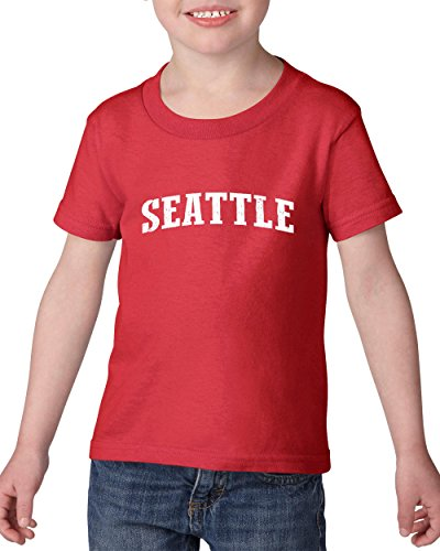 Mom`s Favorite Seattle City Washington State Flag Traveler`s Gift Toddler Heavy Cotton Kids Tee (4TR) -