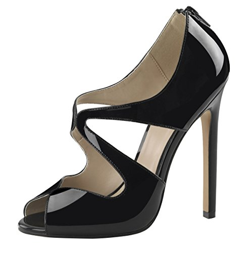 Heels-Perfect - Sandalias de vestir de Material Sintético para mujer Negro - negro