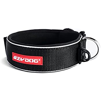 EzyDog Neo Classic Wide Dog Collar, Black, X-Large