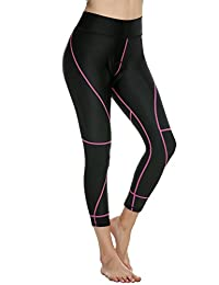 Ekouaer Women's 3D Gel Padded Breathable Compression Cycling Pants Bicycle Tights