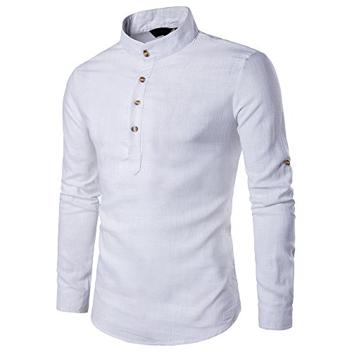Buy Cheap ZYooh Boy's Men's Long Sleeves Shirt,Fashion Floral Printing Slim Fit Dress Shirt Blouse