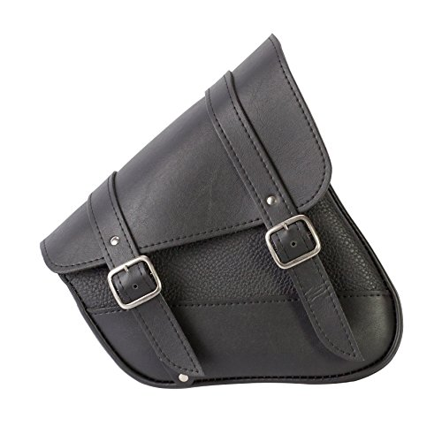 Willie & Max by Dowco 59778-00 Synthetic Leather Swingarm Bag: Black, Fits Dual Shock Bikes/Sportster/Yamaha Bolt, 9 Liter Capacity - Willie And Max Bag