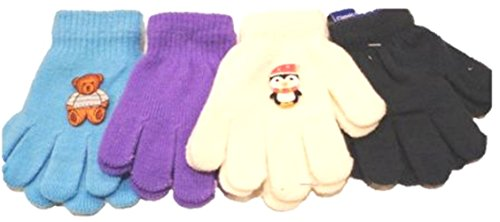 Set of Four Pairs Magic Stretch Microfiber Lined Gloves f...