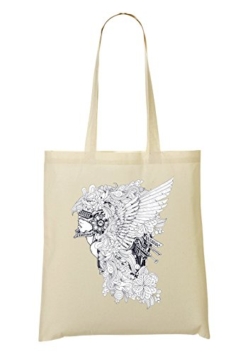 Angel Girl With Wings Helment Bolso De Mano Bolsa De La Compra