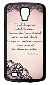 Vintage LACE Marilyn Monroe CLASSIC QUOTE Samsung Galaxy S4 Active i9295 Cute Hard Case Cover - Best Protective Shell for Samsung