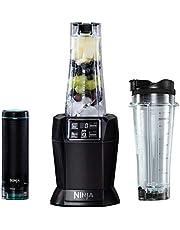 Ninja Nutri 1000W Personal Blender [BL580UKV] with FreshVac Technology, Black