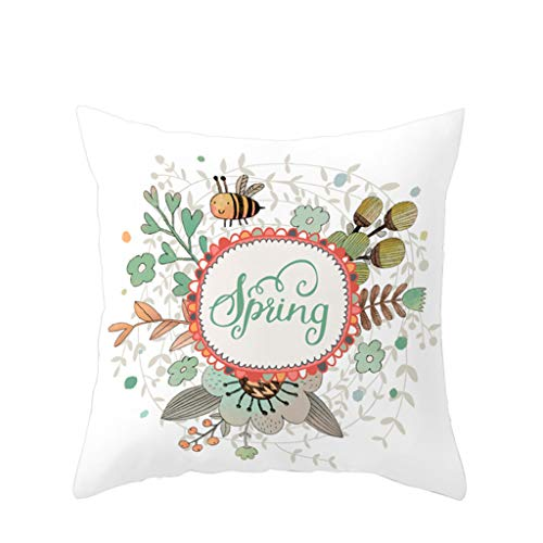 Wenini Easter Nice Gift Home Sofa Decorative Easter Rabbit Print Waist Cotton Linen Throw Pillow Case Cushion Cover 18