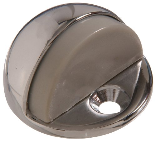 Hillman Hardware Essentials 852968 Low Dome Floor Door Stops Chrome 1/4