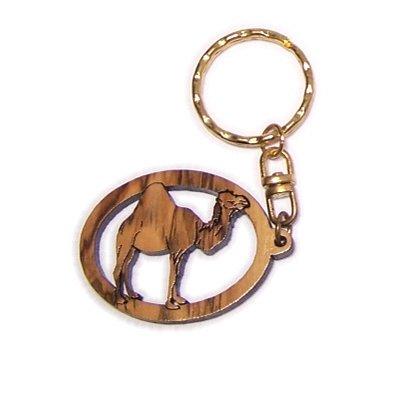 (Camel Olive wood Keys Chain (3.8cm cm or 1.5