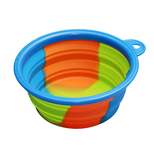PG-One 1Pcs Portable Travel Bowl Dog Feeder Water Food Container Silicone Small Mudium Dog Pet,3,12.8x5.5cm
