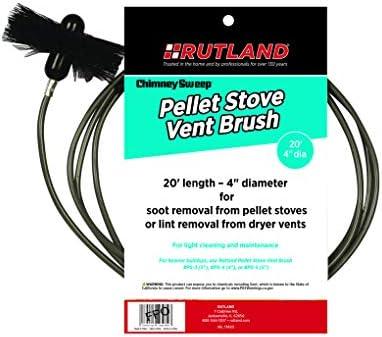 Rutland 4-Inch Pellet Stove/Dryer Vent Brush with 20-Feet Handle