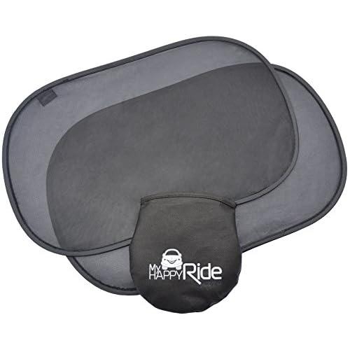 Auto adhésif pare-soleil de voiture pour Enfant Protection (Paquet de 2) - Blocage des rayons ultraviolets nocifs, Chaleur éblouissante