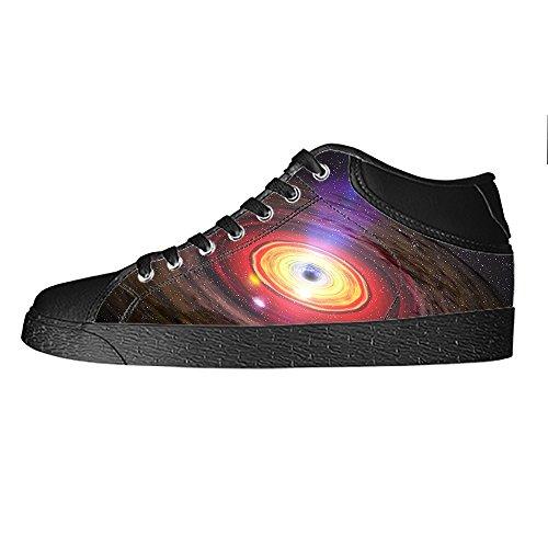 Custom Universo piatto Womens Canvas shoes I lacci delle scarpe scarpe scarpe da ginnastica Alto tetto